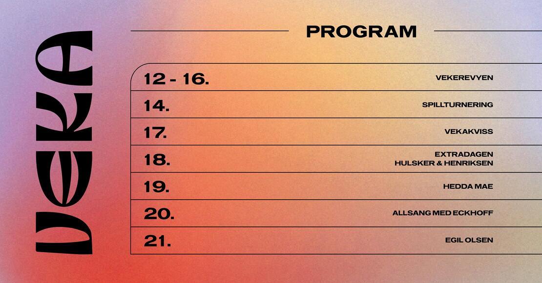 VEKA 2021 Program
